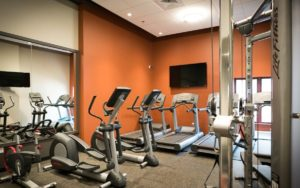 Apartment on-site fitness center at Shadyside Commons in Pittsburgh, PA